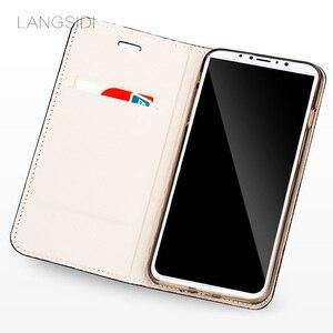 Image 3 - Wangcangli marki komórkowy obudowa na telefon głowa krokodyla etui na telefon z klapką do iPhone X skórzany futerał na telefon pełne ręcznie robione