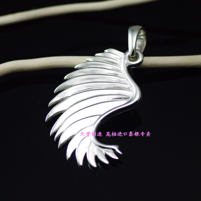 925 Sterling Silver Angel wings wings Silver Pendant silver wings silver wings кольцо 210009 39 194