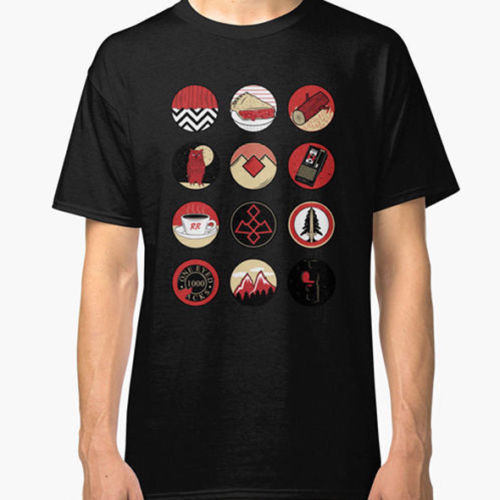 Iconic Twin Peaks Tee Tshirt Mens T-shirt Black Size S to New Best Design Printed Pure Cotton MenS