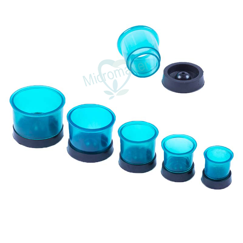 5pcs/1 Set Dental Lab Round Casting Flasks Rings Round Formers Base Wax Rubber