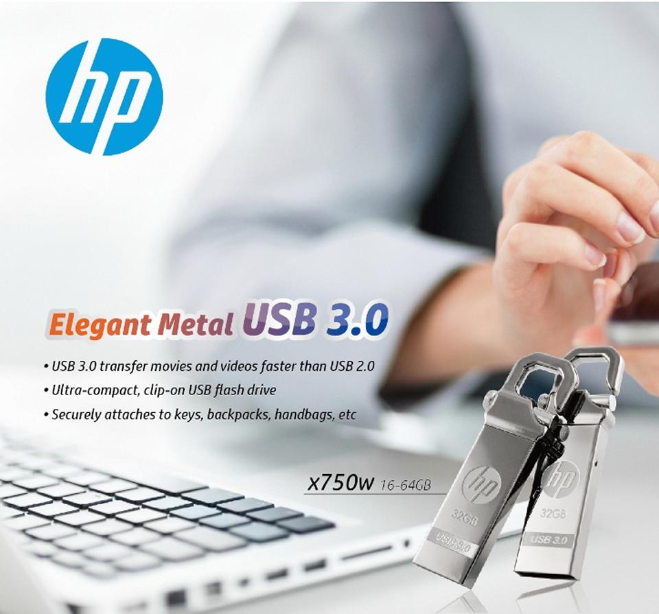 HP x750w USB Flash Drive USB 3.0  32GB 16GB  High Speed Elegant Metal USB Stick 16gb Pendrive Flash Drive Customized Logo Pen drive   (4)