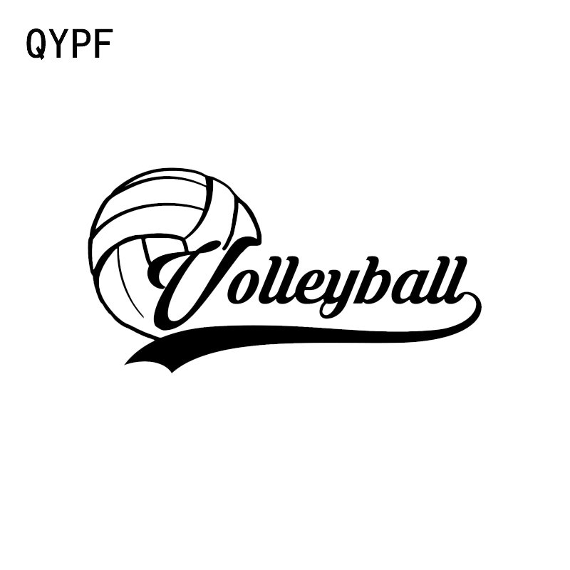 QYPF 14.5*7.5CM Unique Beach Volleyball Player Decor Car Modelling Sticker Vinyl High Quality Silhouette C16-1409