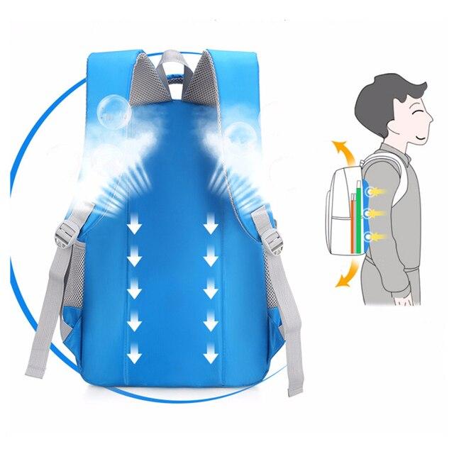 Backpack Schoolbag Children School Bags for Teenagers Boys Girls Big Capacity Waterproof Satchel Kids Book Bag 4
