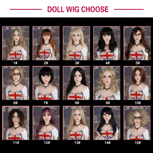WM Doll Wig for sex doll, hair for silicone sex dolls, fit for 125cm, 135cm 140cm 145cm 153cm 155cm 161cm 163cm 165cm love doll