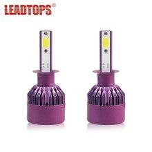 LEADTOPS 2PCS 9005 LED Car Headlight H4 H1 LED 72W H7 COB Car Light Bulbs Auto Led Headlamp 8000lm 6500K BI цена