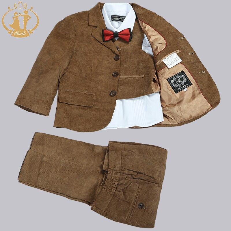 Costumes de garçons agiles pour les mariages Blazers en velours côtelé marron pour garçons vêtements pour garçons costumes de bal pour garçons costume de Blazer pour enfants pour garçon