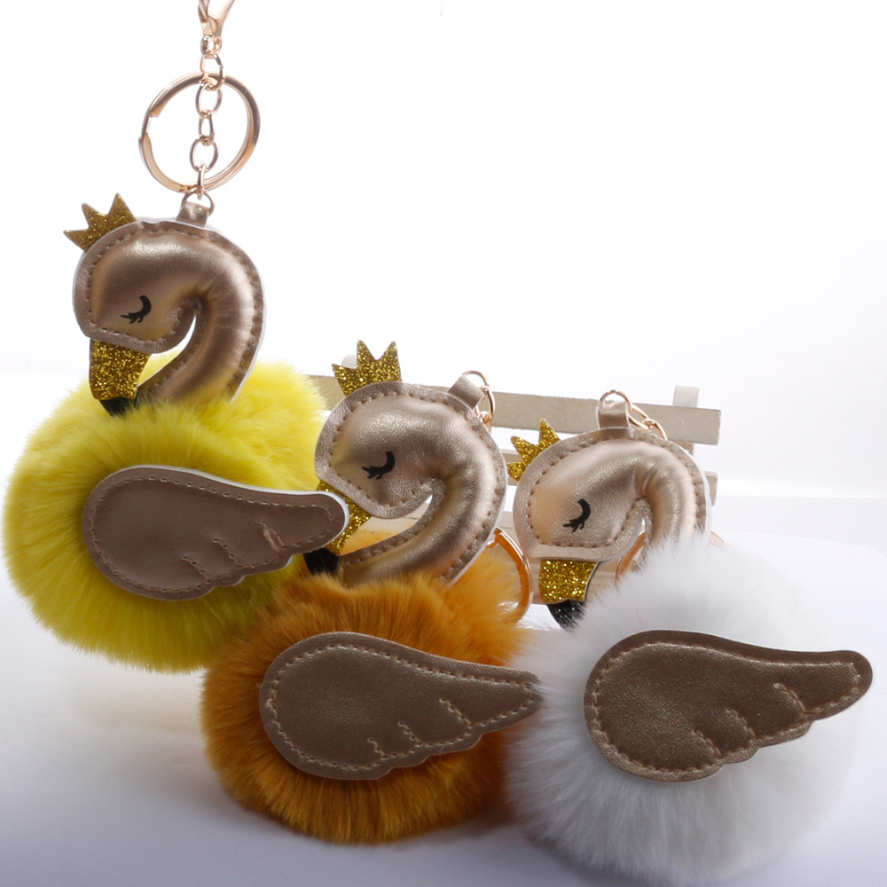 Baby Toy Fur Ball Key Chain Girl Women Bag Pendant  1
