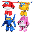 Hot Sale! Super Wings Mini Planes Toy ABS Deformation Airplane Robots JETT Action Figure Boys Birthday Gift Superwings