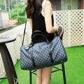 Клетчатый сумка Вещевой мешок багажа сумка Crossbody Бизнес сумочка XY431