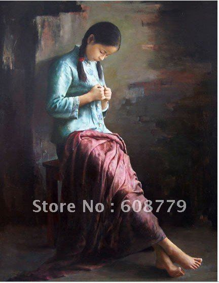 Free Shipping high quality women oil paintingsFree Shipping high quality women oil paintings