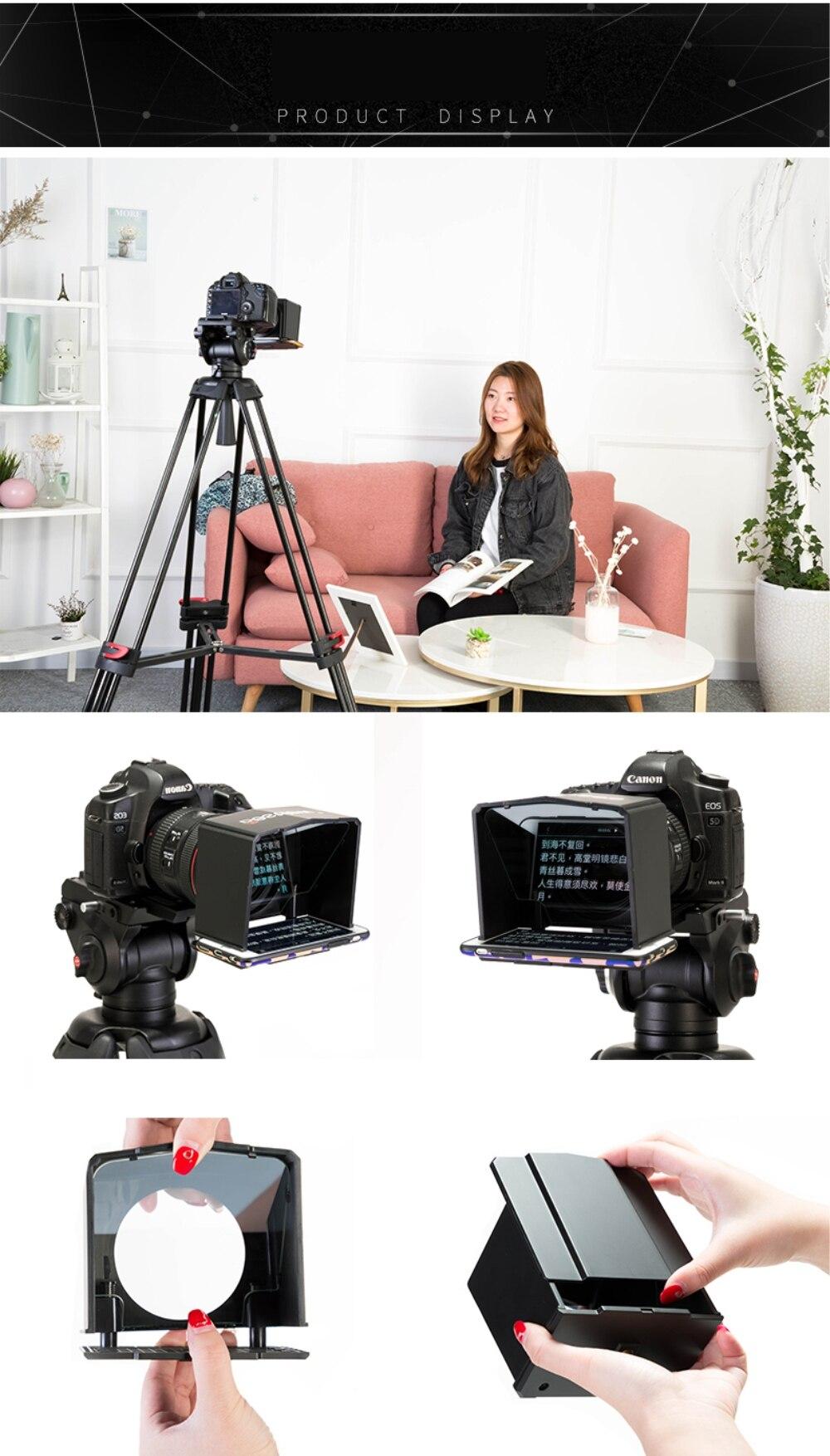 Bestview Smartphone Teleprompter for Canon Nikon Sony Camera Photo Studio DSLR for Youtube Interview Teleprompter Video Camera dji
