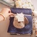 Bebé Swaddle Mantas de Lana Fotografía Recién Nacido Apoyos Cesta de Dibujos Animados Impreso Manta de Bebé de Algodón Suave Transpirable Cesta