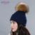 Mulheres chapéu com pompons de peles guaxinim prata ENJOYFUR chapéus tampas de neve Outono Inverno moda chapéu unisex multicolors flexível ao ar livre