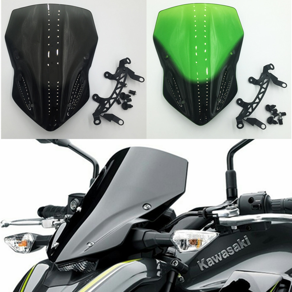 Motorcycle Double Bubble Windshield WindScreen Screen For 2017 2018 2019 Kawasaki Z900 Z 900 ZR900 Black Iridium Smoke 17 18 19Motorcycle Double Bubble Windshield WindScreen Screen For 2017 2018 2019 Kawasaki Z900 Z 900 ZR900 Black Iridium Smoke 17 18 19