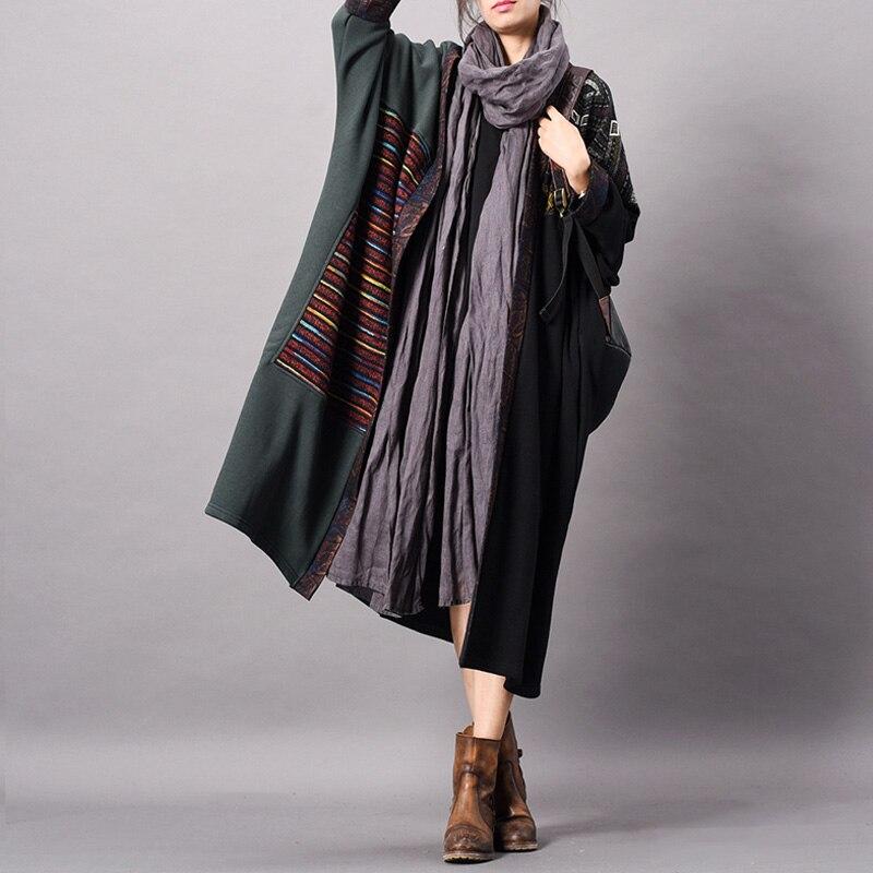 Lin Chiffons Cardigan Lâche Les Vintage Nouveau Johnature Imprimer Coton Manteau Tranchée 2019 Floral Manches Pour Femmes Noir souris Printemps Chauve odxCeB