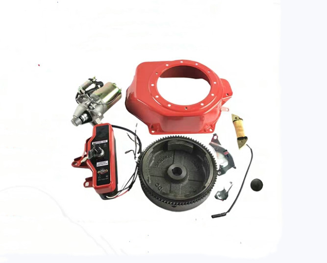 2KW ELECTRIC START KITS FOR HONDA GX160 GX200 Etc. 3KW GENERATOR HOUSING STARTER MOTOR FLYWHEEL CHARGE COIL SWITCH DIY REFITTING