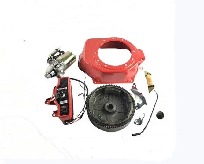 KITS de arranque eléctrico 2KW para HONDA GX160 GX200, etc. 3KW MOTOR de arranque interruptor de bobina de carga 5 uds., panel de luces Interior para coche de 4mm/0,16