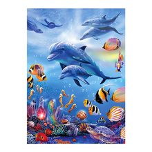 Dolphin Sea World Diamond Painting animal fish Round Full Drill 5D Nouveaute DIY Mosaic Embroidery Cross Stitch home decor gifts