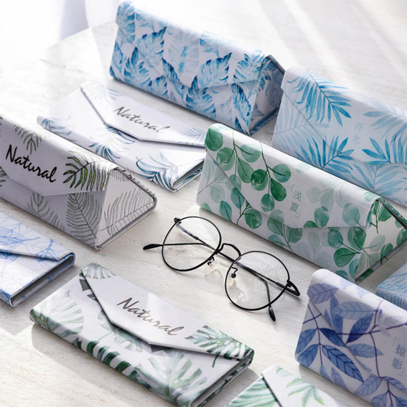 Creative Folding Portable Glasses Case Fashion Flamingo Printing Sunglasses Box Case Handmade Glasses Storage Box