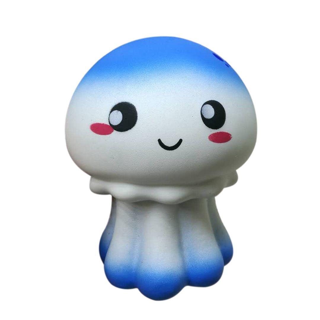 1PCS Cute Jellyfish Squishy Super Slow Rising Jumbo Fish Animal Soft Squeeze Kid Fun Toy Decompression Toys