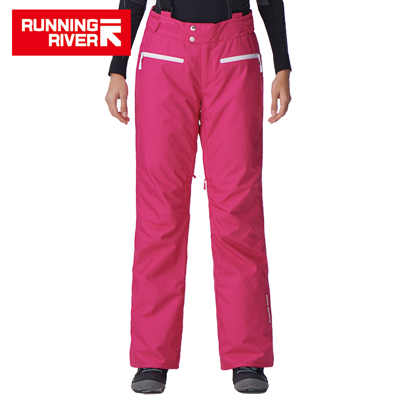 RUNNING RIVER Brand Women Ski Pants For Winter 5 Colors 6 Sizes Warm Outdoor Sports Pants High Quality Winter Pants #B7080 running river brand men hooded ski jacket for winter 4 colors 6 sizes high quality outdoor sports jackets for man a6026