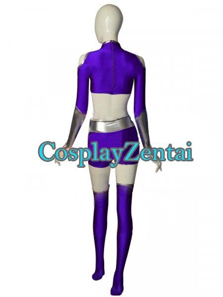 Nuevo 2018 Starfire Cosplay Spandex señora traje trajes de Halloween para  la Mujer en de en AliExpress.com  3d605486cefb