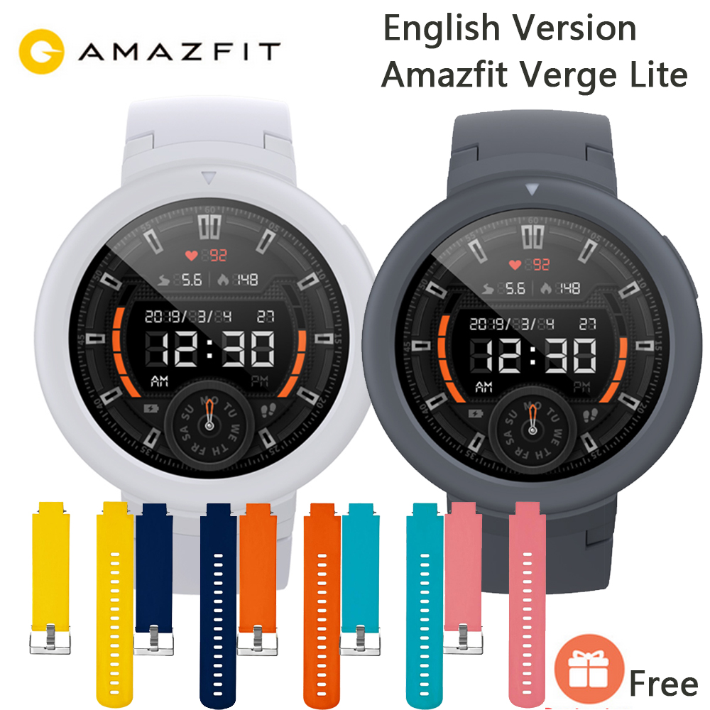 English Version Xiaomi AMAZFIT Verge Lite Smartwatch 20 Days Battery Life 1 3 Inch AMOLED Screen