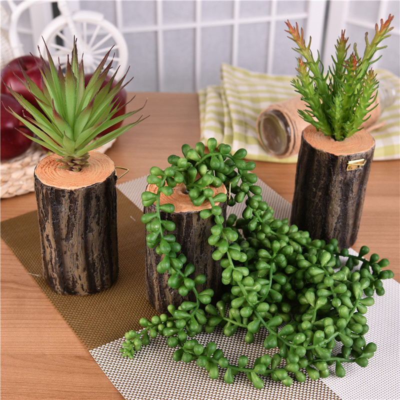 New 1pcs succulent bonsai artificial potted plant for Artificial plants indoor decoration