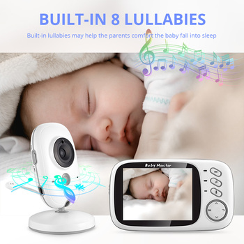 VB603 Wireless Video Color Baby Monitor 3.2 Inch High Resolution Night Vision Temperature Monitoring Baby Nanny Security Camera 4