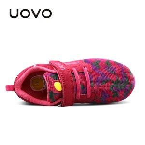 Image 5 - UOVO أحدث تنفس الربيع الخريف الفتيان الفتيات خفيفة الوزن وحيد الأطفال أحذية رياضية أحذية مرنة للأطفال