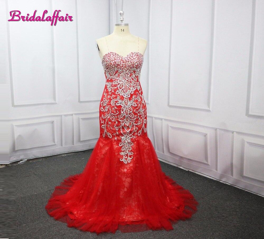 BridalaffairReal Photo Reb Mermaid   Prom     Dress   2017 Vestido de festa Short Sleeve Appliques Scoop Lace Party   Dress   Robe de soiree
