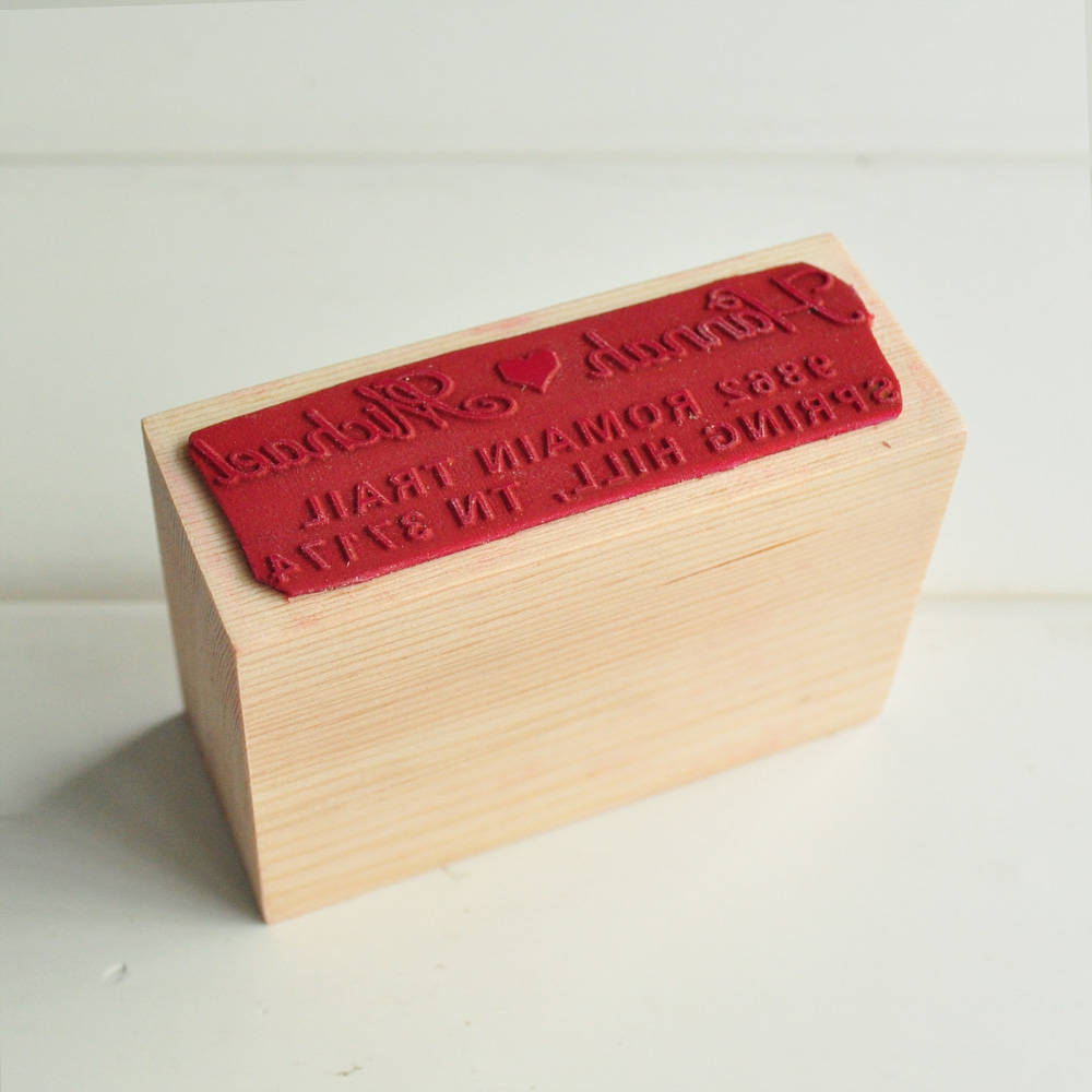 Personalized wedding stamp, Customize Stamp with Your names&address ...