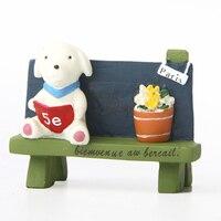 INKANEAR A11 ZAKKA Mini Resin Dog Puppy Chair Bonsai Micro Fairy Miniatures Decoration Toys Terrarium Ornament