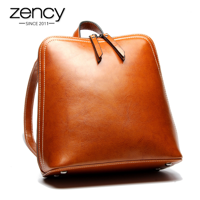 2017 Famous Brand Split Leather Women Backpacks Solid Classic Vintage Ladies Bag School Bags for Girls Black Mochilas Mujer