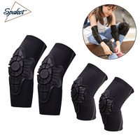 SPAKCT Cycling Bike Children Elbow Pads Knee Pads Silicone Gel Elbow Protect Cover Sport Safety Pulley Bicycle Knee Pads Support