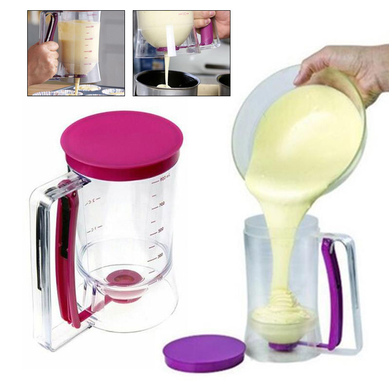 3 in 1 batter dispenser funnel measuring cups pastry tools baking bakeware kitchen tools pancake maker - Batter Dispenser