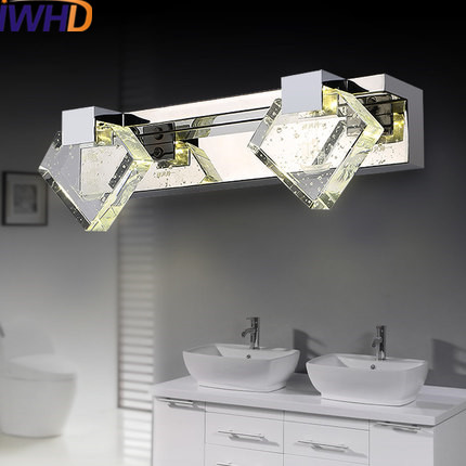 IWHD Crystal LED Wall Lamp For Bathroom Mirror Light Fashion Waterpoof stainless steel S ...