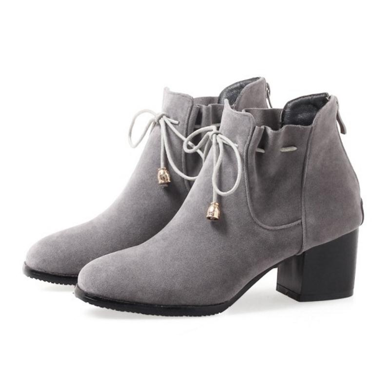 589ffd07 Bowknot Mujeres Caliente Zipper Botas Mujer Calzado Tamaño 34 Piel gris  Altos Coolcept 43 Tacones De Militar Negro Invierno Zapatos ...