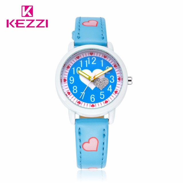 4ef0fa3cc Hot Sale Kezzi Children Casual Watch Girl Cute Love Color Pattern Sweet  Style Quartz Wristwatch Student