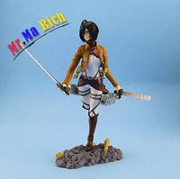 New Arrival Japan Anime Big Size Attack On Titan Mikasa Ackerman Pvc Action Figure Kids Toys Doll 24cm Brinquedos Anime Figure