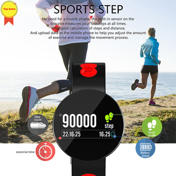new smart bracelet 2019 fitness tracker heart rate blood pressure monitor IP67 waterproof sports smart wristband men Android IOS