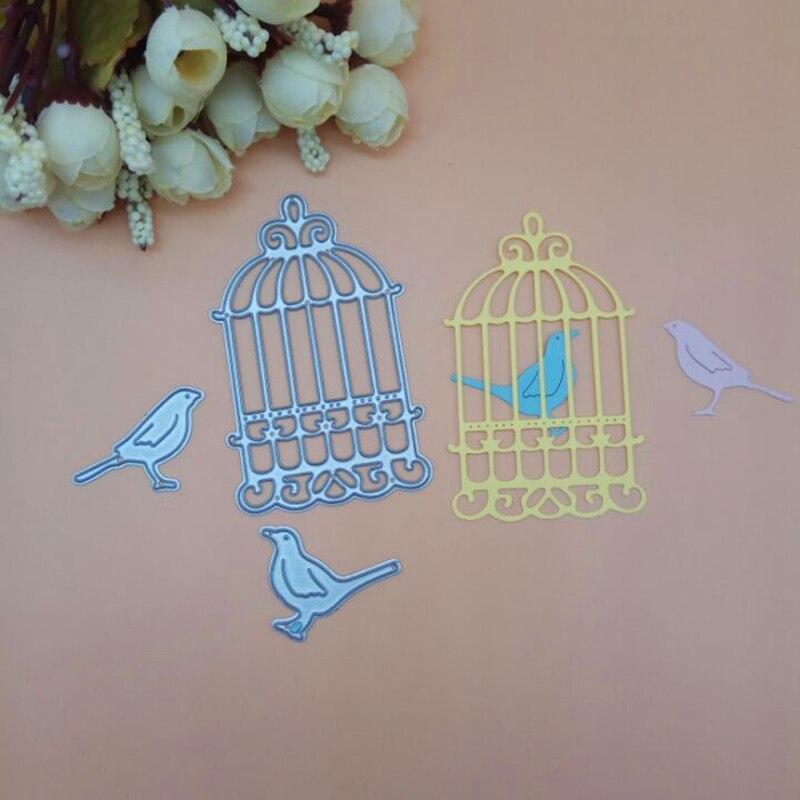 Bird Birdcage Wedding Love Cutting Die Punch For Scrapbook Scrapbooking PAPER CRAFT Card Album Knife Mold Art Cutter Stencils