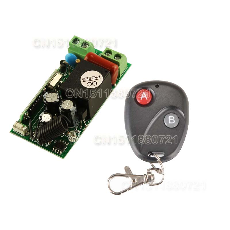 220V 1CH RF wireless remote control switch learning code radio transmitter automatic door new product dc12v 24v 36v 48v 1ch wireless radio remote control switch receivers and transmitter learning code high quality