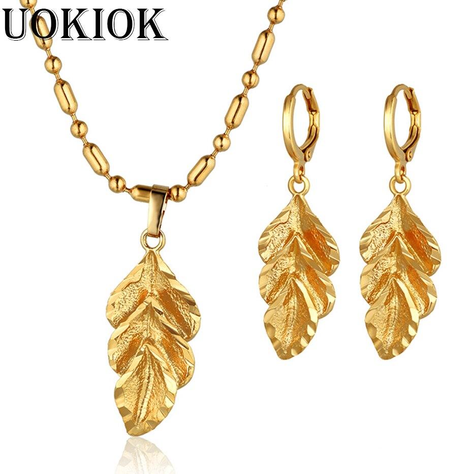 Leaf Necklace Earrings...