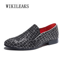2018 men shoes slip on loafers zapatos hombre casual sapato masculino  wedding dress shoes sequined shoes oxford shoes for men 6d7529f759f4