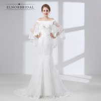 Elnorbridal Mermaid Lace Wedding Dresses 2018 Robe De Mariage Handmade Bridal Gowns Shop Online China