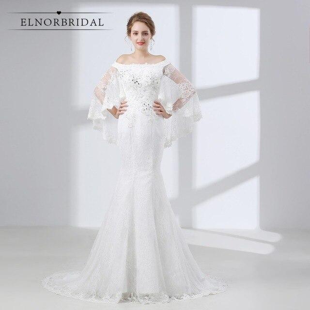 Elnorbridal Mermaid Lace Wedding Dresses 2018 Robe De Mariage ...