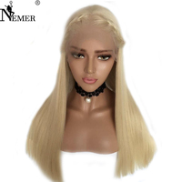 613 Blonde Virgin Human Hair Wigs with Baby Hair Nemer Brazilian Human Hair 150 Density Full Lace Human Hair Wigs Bleached Knots