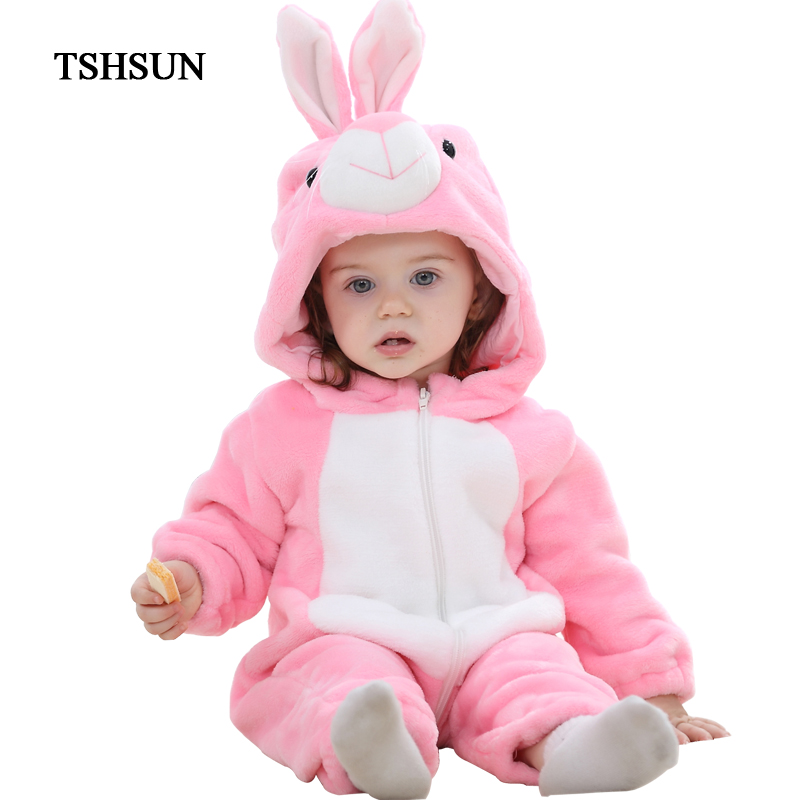 TSHSUN 2017 New Cute Animal One Piece Long Sleeve Cotton Clothes Newborn Baby Romper Baby Girls Boys Costume Clothing pudcoco newborn infant baby girls clothes short sleeve floral romper headband summer cute cotton one piece clothes