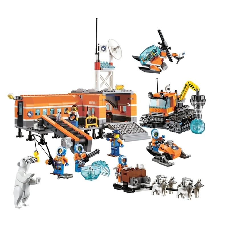 Stadt 10442 Kompatibel legoingly Stadt blöcke Ziegel Arktischen Basis 60036 Modell Gebäude kits Blöcke Modell Spielzeug Für Kinder